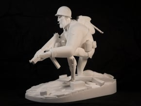 The Soldier (Large) in White Natural Versatile Plastic