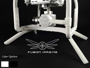 2.0 inch DJI Phantom 3 Gimbal Guard / Leg Extender in White Natural Versatile Plastic