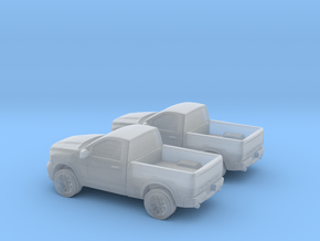 1/160 2X 2011 Dodge Ram 1500 Regular Cab in Smooth Fine Detail Plastic