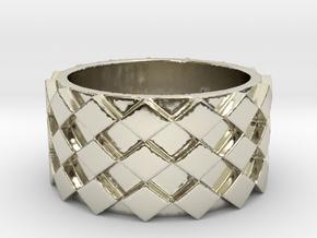 Futuristic Diamond Ring Size 6 in 14k White Gold