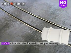 Asphalt-Walze (Straßenbahn/Übergang - H0 1:87) in White Natural Versatile Plastic