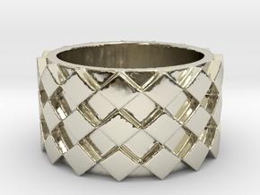 Futuristic Diamond Ring Size 4 in 14k White Gold