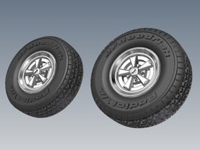 1-87 BFG Radial T-A Tire SET in Smooth Fine Detail Plastic