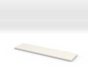 Testing Coupon in White Natural Versatile Plastic