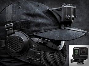 Hat Mount GoPro HERO 3/4 (Slim Case & GoPro HERO+) in Black Natural Versatile Plastic
