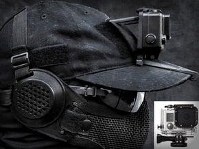 Hat Mount GoPro HERO 3/4 (Full Size Case) in Black Natural Versatile Plastic