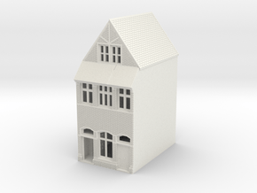 TFS-73 N Scale Topsham Fore Street building 1:148 in White Natural Versatile Plastic