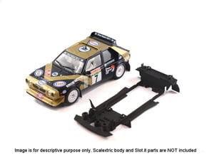 S05-ST2 Chassis for Scalextric Delta S4 no spoiler in White Natural Versatile Plastic