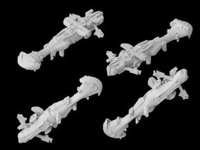(Armada) Braha'tok gunship in White Natural Versatile Plastic