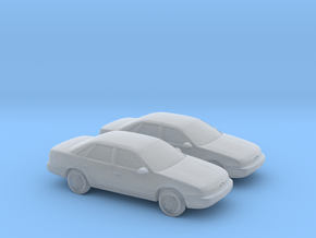 1/160 2X 1994 Ford Taurus in Smooth Fine Detail Plastic