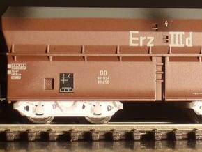7112 N 4 Drehgestelle Minitrix OOt(z) 50 in Smooth Fine Detail Plastic
