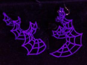 Spiral Spider Web Earrings in Purple Processed Versatile Plastic