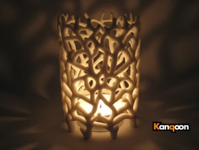 Coraline S. Tealight White Sandstone in Full Color Sandstone