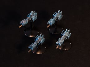 Legion - Bayonet Class Support Frigate (x4) in Smooth Fine Detail Plastic