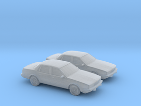 1/160 2X 1991-93 Buick Century in Smooth Fine Detail Plastic