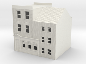 TFS-71 N Scale Topsham Fore Street building 1:148 in White Natural Versatile Plastic