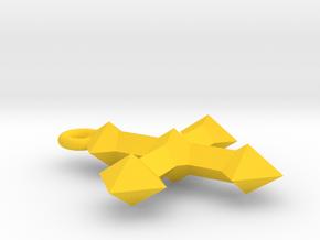 Crest Pendant in Yellow Processed Versatile Plastic