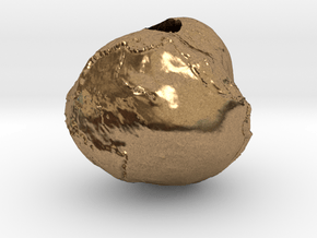 """Geoid - 3/4"""" diameter hollow earth gravity model in Natural Brass"""