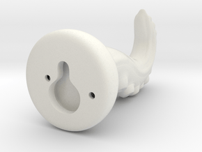 Tentacle Hook With Nail Hole - Hollow in White Natural Versatile Plastic