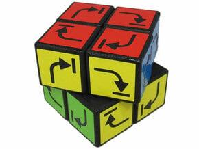 Irreversible Cube in White Natural Versatile Plastic
