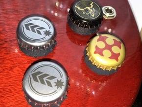 Bottlecap Tone Knob - 6MM in Black Natural Versatile Plastic