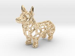 Corgi Bottle Opener Keychain in 14k Gold Plated Brass