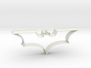 Batman 2008 - cookie cutter in White Natural Versatile Plastic