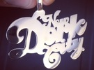 New Dork City Pendant in Rhodium Plated