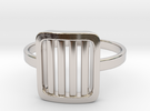 Back to basic collection - size 6 US in Rhodium Plated