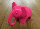 Baby Elephant Toy / Sculpture in Pink Strong & Flexible Polished