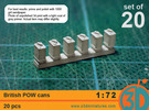 British POW Cans 1/72 scale pack of 20 in Frosted Ultra Detail