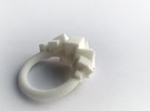 Rock Ring size 7 in White Strong & Flexible