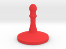 Chess Piece 2a in Red Strong & Flexible Polished