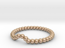 Bead Ball Band in 14k Rose Gold