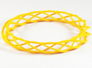 Twist Bangle A03L in Yellow Strong & Flexible Polished