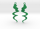 Element Earrings: Wind in Green Strong & Flexible Polished