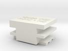 1:87 (HO-HOn3) Coupler Gauge in White Strong & Flexible