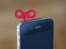 Wind Up Phone in Red Strong & Flexible Polished