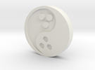 Ying Yang Coin in White Strong & Flexible
