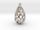 Swirl Pendant in Rhodium Plated