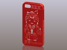 iPhone5_The Chinese Style--Traditional Opera 08 in Red Strong & Flexible Polished