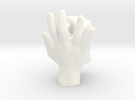 Ring Holder   Hand & Fist in White Strong & Flexible Polished