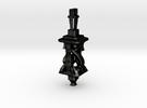 Twisting Tower Pendant in Matte Black Steel