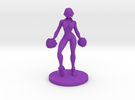 Cheerleader #2 for Slaughterball in Purple Strong & Flexible Polished