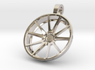 Vossen VFS1 35mm Pendant Keychain  in Rhodium Plated