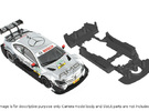 S03-ST4 Mercedes C-Klasse DTM Chassis SSD/STD in White Strong & Flexible