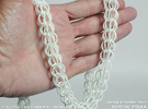 Full-Persian Chainmail Necklace 2 in White Strong & Flexible