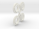 S05-SI1 4WD Wheel Inserts Lancia OZ Rally in White Strong & Flexible
