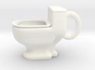 Toilet Mug in White Strong & Flexible Polished