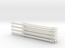 pushrods 13m and 17m  4 piece +4 piece set in White Strong & Flexible